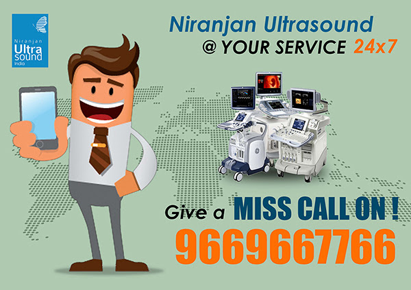 Niranjan Ultrasound India Pvt. Ltd Introduces ‪‎Ultrasound‬ ‪Service‬ to You with Missed Call System !!!
